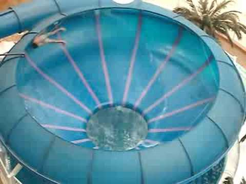 Me going down toilet bowl water slide west ed water park - London swimming pools with slides ...