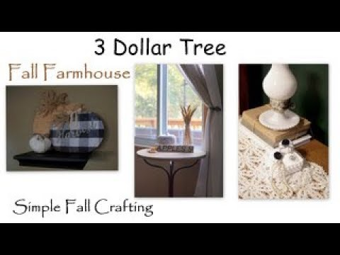 3 Dollar Tree Fall Farmhouse Crafts | Simple Dollar Tree Fall Crafts