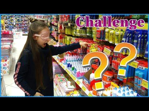 Αγοράζω Όλα Αυτά που Ακουμπάω με Κλειστά τα Μάτια!Challenge/Haul/Princess Tonia Vlog!