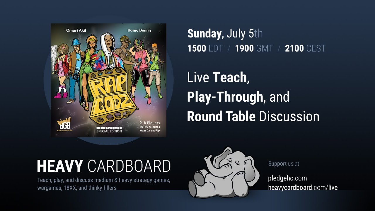 Rap Godz 2p Teaching, Play-through, & Round table by Heavy Cardboard