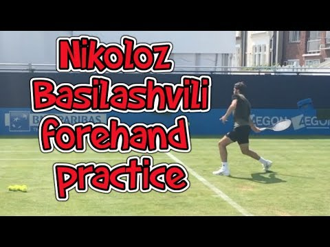 Basilashvili Forehand Practice