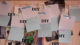 #BACK TO SCHOOL DIY Timetable Расписание уроков