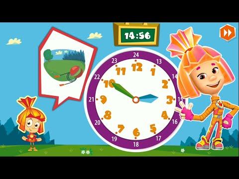ФИКСИКИ математика игра Учим время и сложение Развивающая игра Детское видео