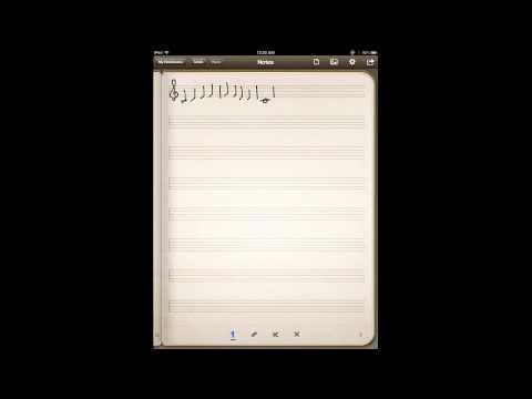 iPad Music Staff Paper, Method #1: Penultimate