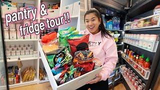 NEW pantry and fridge tour!! organize with me!