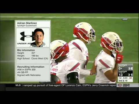 Adrian Martinez in the Under Armour AllAmerican Game