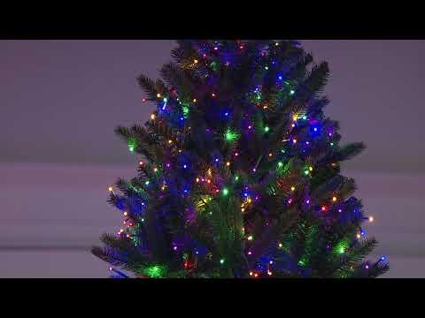 separation shoes 44b24 f17f9 Santa's Best 9' Starry Light Microlight Christmas Tree w/Flip LEDs on QVC