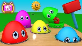Learn Colors with Surprise eggs and Toys for Kids - Colours for Children Toddlers