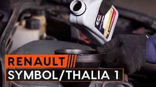 RENAULT SYMBOL / THALIA Öljynsuodatin vaihto: ohjekirja