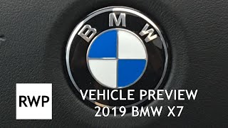 VEHICLE PREVIEW - Production Version 2019 BMW X7 At Invitation-Only Event