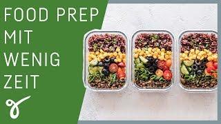 3 Tipps zum Meal Prep: Gesund Essen trotz wenig Zeit | Gerne Gesund mit Dr. Christina Steinbach