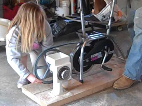 Pedal Power Wheat Grinder Youtube