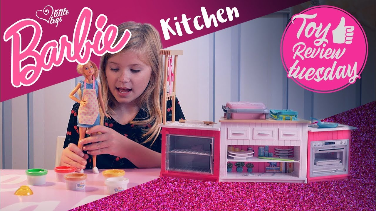 Barbie Doll Kitchen Play Set Toy Review Tuesday Youtube