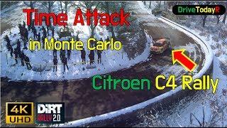 Dirt Rally 2.0 - Citroen C4 - Monte Carlo in Monaco -Time attack - 4K 60P