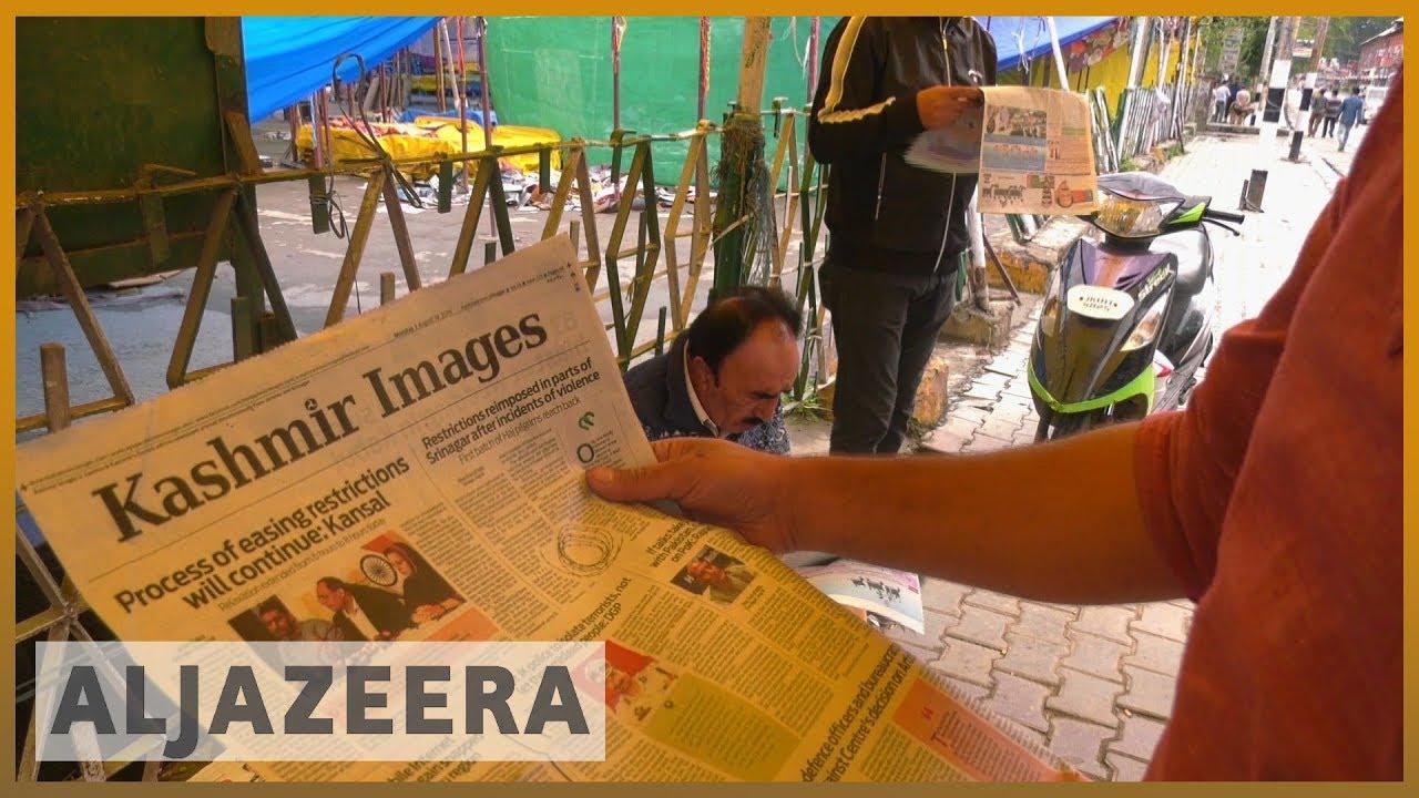 AlJazeera English:India eases lockdown in Indian-administered Kashmir