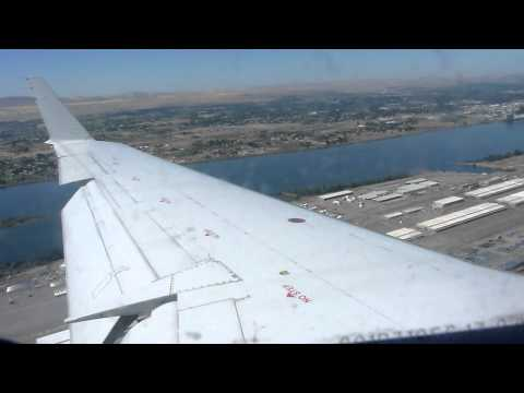 Landing in Pasco Tri-Cities: United Express CRJ200