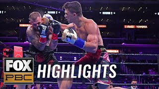 Joey Spencer remains undefeated after KO win against Travis Gambardella | HIGHLIGHTS | PBC ON FOX
