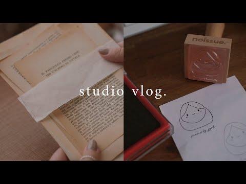 New Stamp, Vintage Books \u0026 Packing Orders | Studio Vlog 74