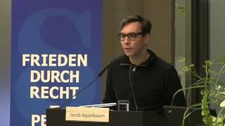 Whistleblower Award - Jacob Appelbaum answers for Edward Snowden