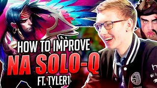 HOW TO IMPROVE NA SOLO-Q FT. TYLER1 - Bjergsen