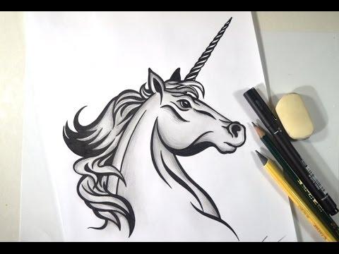 Como Desenhar Cavalo Unicornio Tribal Passo A Passo Youtube
