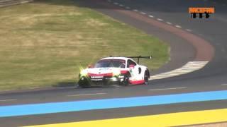 2017 Porsche 991 RSR 24h Le Mans 2017 loud sound!