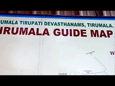 Tirumala Guide Map-Andhra Pradesh-India