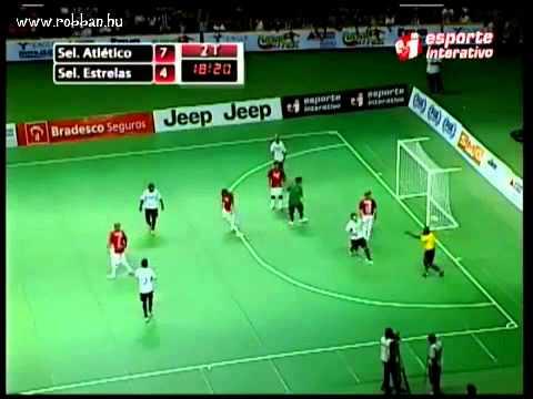 Brazilian indoor soccer Falcao scored impossible goal - YouTube