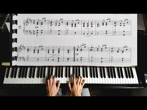 Schubert - Zwei Deutsche Tänzen - Piano Tutorial