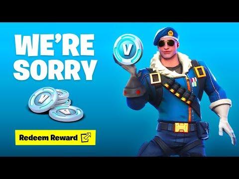 Fortnite: We're Sorry... (FREE GIFT)