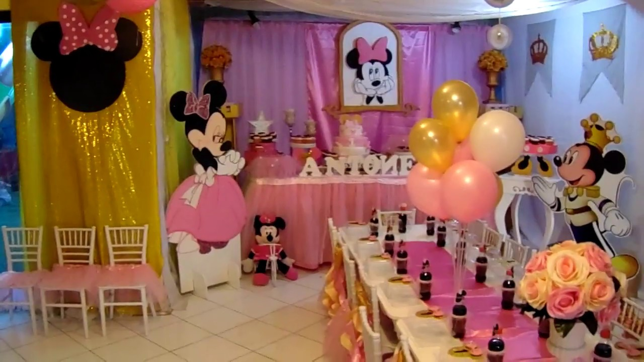 CUMPLEA u00d1OS MINNIE GOLD DECORACION YouTube