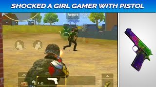 SHOCKED A GIRL GAMER WITH PISTOL || PUBG MOBILE || THE PRODIGY WARRIOR