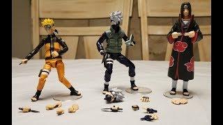 Toynami Naruto Action Figures Unboxing - Naruto, Kakashi & Itachi