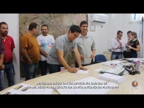 Deputado Diego Garcia apresenta Emenda para Asfalto em SAP-PR