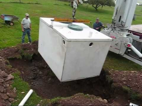 Septic Tank Installation Sept 23 2011 Youtube