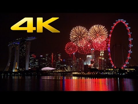 4K | Singapore New Year's Eve Fireworks Show