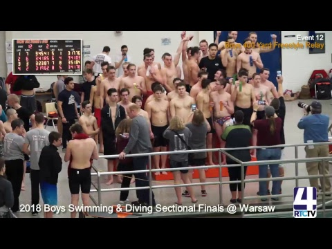 IHSAA Boys Swimming and Diving Sectional Finals at Warsaw