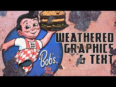 Photoshop: Best Way to Create Realistically, Weathered Graphics & Text