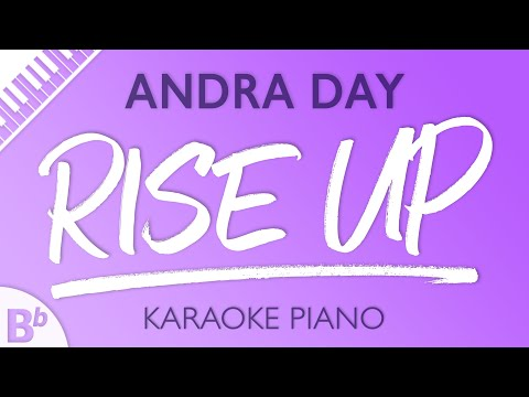 Rise Up (Lower Key of Bb) [Piano Karaoke Instrumental] Andra