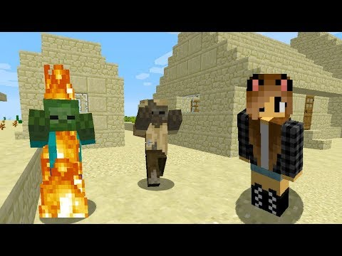 Выживание Светы в Пустынной Деревне! Плоский Майнкрафт Мир! Видео обзор Minecraft