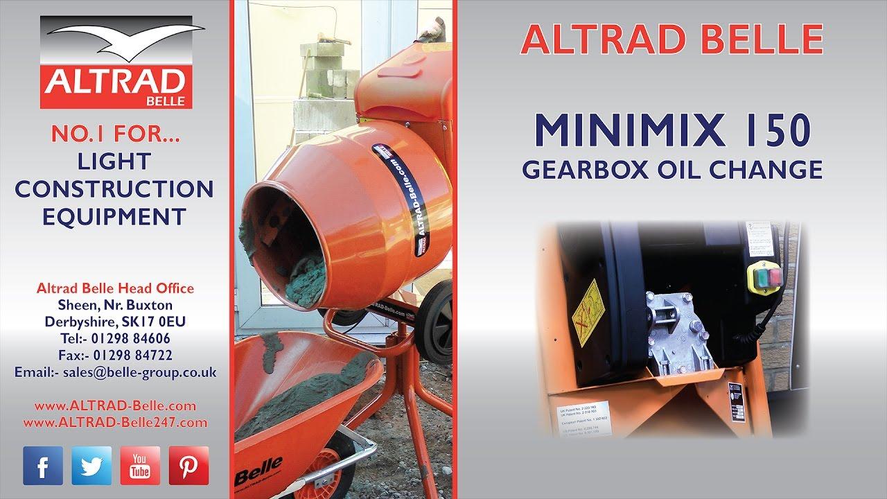 Altrad Belle - Minimix 150 Gearbox Oil Change Procedure on