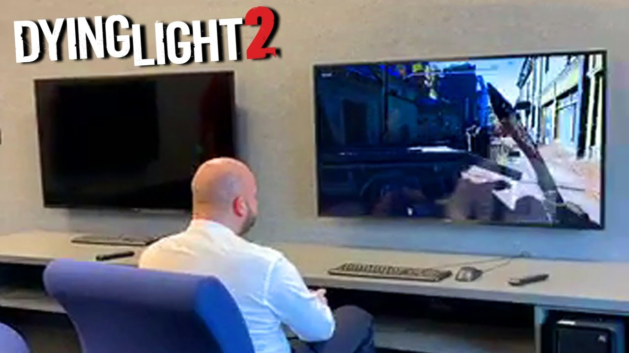 Major Of Wrocław Jacek Sutryk Playing Dying Light 2 At Techland's Office thumbnail