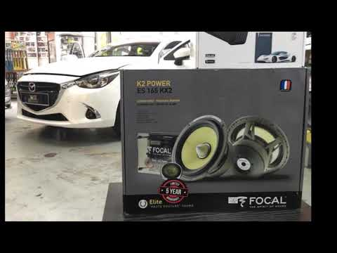 Mazda 2 audio system upgraded with Audision DSP & Focal amplifier & Focal Speakers