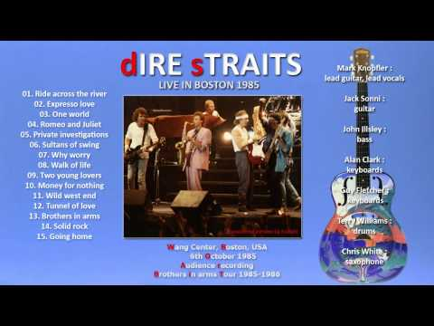 """Dire Straits """"Wild West End"""" 1985 Boston [AUDIO ONLY] awesome!!!"""
