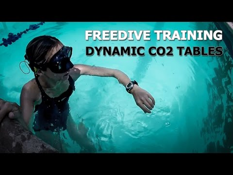 Free-diving: Dynamic CO2 Table Training in Pool