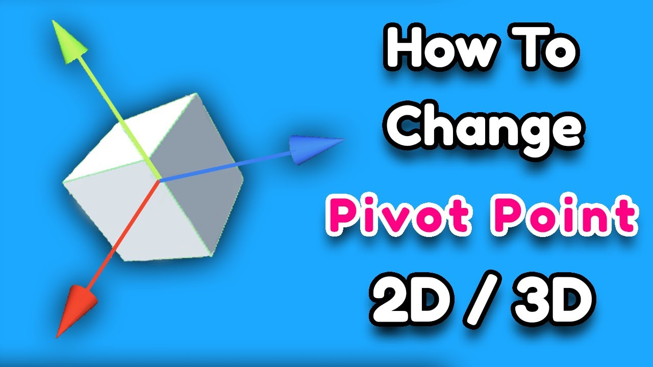 How To Change Pivot Point 2d 3d Modify Pivot Point In Unity 3d
