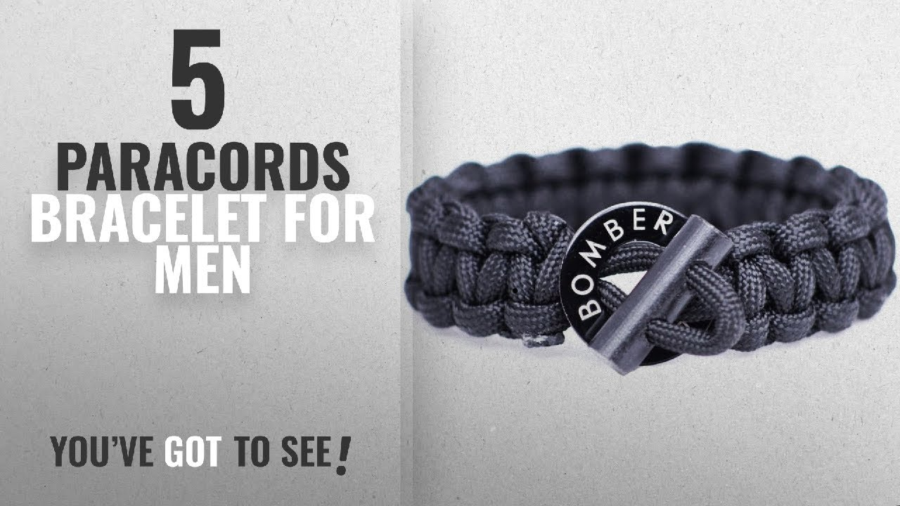 Top 5 Paracords Bracelet For Men  2018   The ORIGINAL Bomber Fire Starter Paracord  Bracelet 275917b82e4