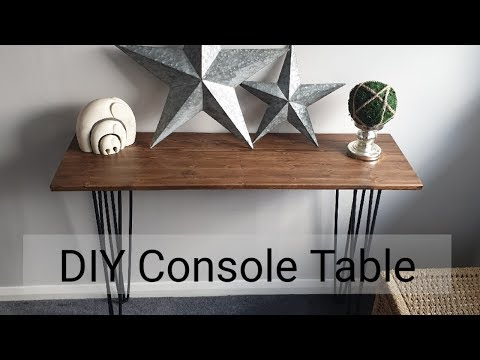 DIY Console Table with Hair Pin legs  **Easiest Build ever**