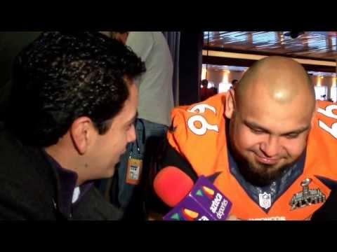 Manny Ramirez de los Broncos de Denver contesta en español, a días del Super Bowl en NY