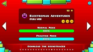 Repeat youtube video Geometry Dash - Electroman Adventures (FULL VER) All Coin / ♬ Partition